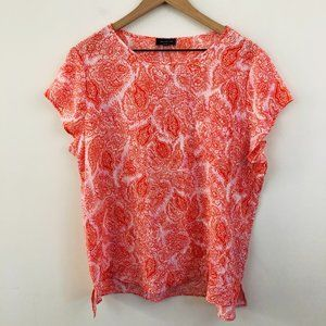 NWT! The Limited Paisley Print Short Sleeve Top